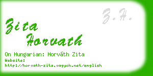 zita horvath business card